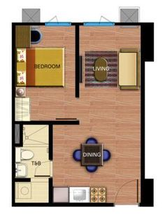 open plan granny flat design 36 square meters - Google Search