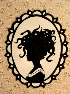 victorian silhouette / medusa by skelephant on Etsy