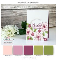 Stampin Up UK - Cards, Tutorials and Ideas from Stamping With Val - Shop Stampin Up UK Online Here 24/7 - Colour Inspiration With Val Moody