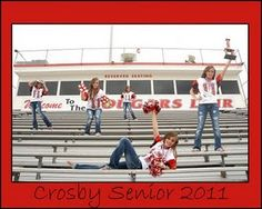 Senior Pictures! OMG - it's the same girl!!! But could do with a team of cheerleaders.