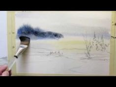 Watercolor Clouds - How to Paint a Breezy Sky Watercolor Clouds, Watercolor Video, Watercolor Painting Techniques, Watercolour Tutorials, Painting Videos, Painting Lessons, Watercolor Landscape, Abstract Watercolor, Landscape Paintings