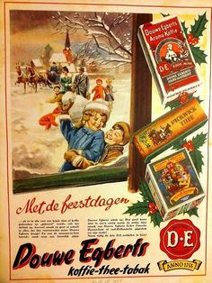 🌟Tante S!fr@ loves this📌🌟 Gerben D. Vintage Advertisements, Vintage Ads, Vintage Posters, Art Deco Posters, Retro 1, Fathers Love, Christmas Illustration, Advertising Poster, Vintage Christmas