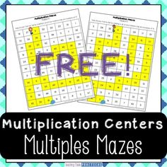 A FREE fun way to build the skills necessary for multiplication - a multiples maze for multiples of 3 and 5. Students complete the maze by shading in multiples of a given number. Can be used as multiplication center or math homework for 2nd, 3rd, or 4th grade.