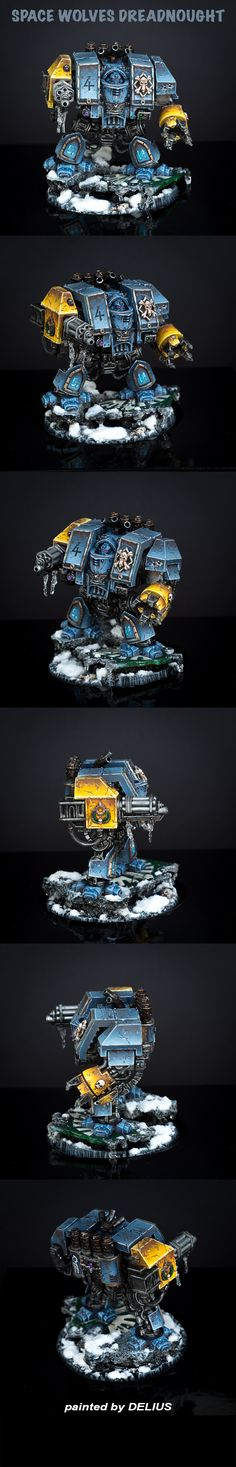 40k - Space Wolves Dreadnought by Delius