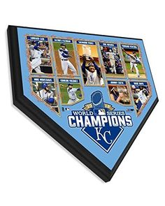 Kansas City Royals 2015 World Series Champions Collectible Home Plate Baseball Plaque – 11.5 x 11.5 Photo – Licensed MLB Baseball Collectible – Baseball Collectibles