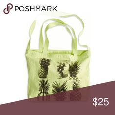 Pineapple Tote/Cross Body Neon yellow in color. Brand new with tags. Never been used. Can be used as a tote or tuck the straps in and use it as a cross body! Dani's Boutique Bags Totes