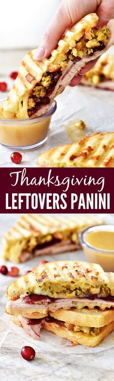 Use up all your Thanksgiving leftovers to make these amazing panini's!