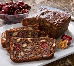Cherry Walnut Chocolate Bread. Dense, moist and chewy chocolate bread with walnuts.
