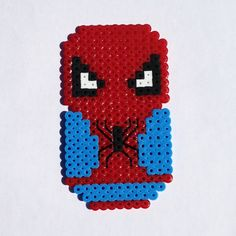 Spiderman perler beads by ThePlayfulPerler on deviantart