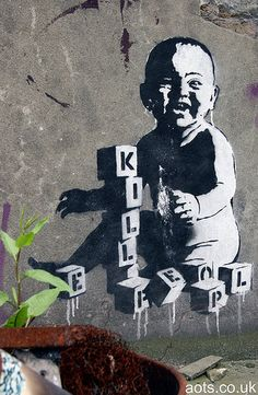 Banksy Kill People baby