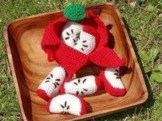 Mesmerizing Crochet an Amigurumi Rabbit Ideas. Lovely Crochet an Amigurumi Rabbit Ideas. Crochet Fruit, Crochet Food, Cute Crochet, Crochet Crafts, Crochet Projects, Knit Crochet, Crochet Baby, Crochet Apple, Crochet Patterns Amigurumi
