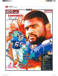 Lawrence Taylor 100 Leyendas del Deporte / 100 Sports Legends by Jesús R. Sánchez, via Behance