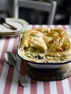 Chicken, Leek, Prune and Caerphilly Cheese Pie: Chicken, Leek, Prune and Caerphilly Cheese Pie