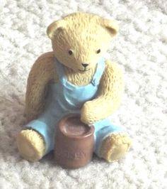 Vintage 3D Cake Topper Blue Teddy Bear, Blue Teddy Bear figure-New-Rare-1995 by BunkysVintageCrafts on Etsy