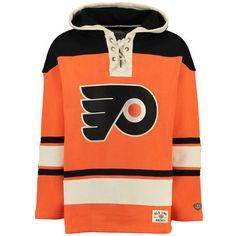 07daadc4998 Men s Philadelphia Flyers Old Time Hockey Orange Lacer Heavyweight Pullover  Hoodie - Hockey Gear