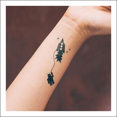 Kids Transfer Tattoos - Rocket