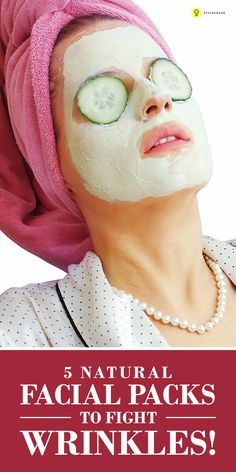 Aging is natural and as you age you will see #wrinkles turn up! Our Expert Ahana, gives of 5 of the best face #homemadefacepacks for wrinkles ...