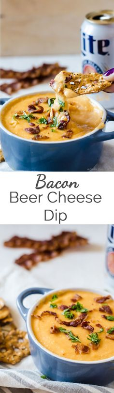 This bacon beer cheese dip will be a favorite among all your guests. This recipe… This bacon beer cheese dip will be a favorite among all your guests. This recipe is an easy appetizer that is done in no time! Beer Cheese, Cheese Chips, Easy Appetizer Recipes, Appetizer Dips, Appetizers For Party, Beer Recipes, Cooking Recipes, Dip Recipes, Cheese Recipes