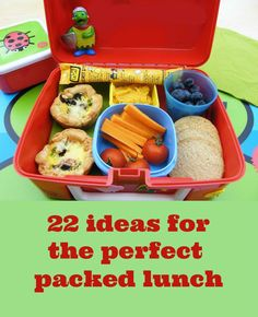 Packed lunches can be so healthy and fun. Bin the junk food and try some of these ideas. #packedlunches #veggierecipes