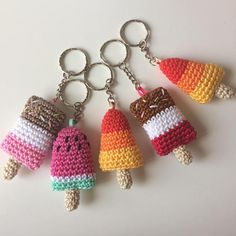 Kawaii Crochet, Crochet Food, Crochet Gifts, Cute Crochet, Knit Crochet, Crochet Summer, Crochet Keyring Free Pattern, Crochet Patterns Amigurumi, Crochet Garland