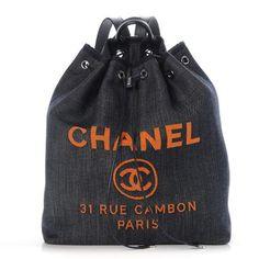 ac508b10993 Chanel Deauville Backpack Large Blue Orange