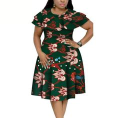 Material: 100% COTTONSeason: SummerStyle: CasualPattern Type: PrintDresses Length: Knee-Length African Dresses Plus Size, Short African Dresses, Latest African Fashion Dresses, African Print Dresses, African Print Fashion, Women's Fashion Dresses, African Fashion Traditional, Dresses For Pregnant Women, Africa Dress