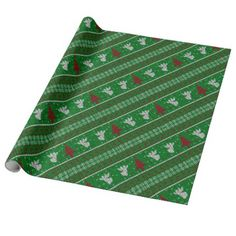 Ugly Christmas Sweater Wrapping Paper - winter gifts style special unique gift ideas