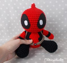 Hulk, Deadpool, Chibi, Spiderman, Lana, Crochet Hats, Amigurumi, Cartoon, Hilarious