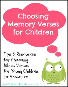 Great list of resources and suggestions! How to Choose Bible Verses for Young Children to Memorize {Truth for Tots} Also some great links to some FREE online bible curriculum! Bible Verses For Kids, Children's Bible, Kids Bible, Bible Verse Memorization, For Elise, Train Up A Child, Memory Verse, Bible Activities, Bible Teachings