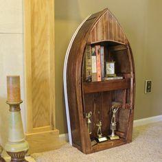 unique bookshelves   ... Amazing and Creative Bookshelves : Creative Bookshelves Boat Bookcase