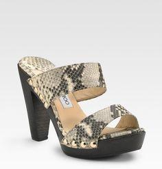 Jimmy choo snake skin tan and white platform sandals | Jimmy Choo Ulrika Platform Sandals in Brown (natural) - Lyst