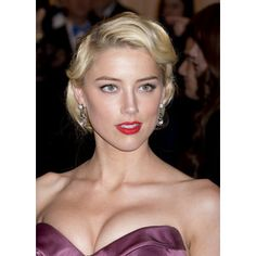 Amber Heard - Ethnicity of Celebs 1950s Hairstyles, Formal Hairstyles, Vintage Hairstyles, Wedding Hairstyles, Amber Heard, Vintage Wedding Hair, Wedding Updo, Vintage Weddings, Side Part Updo