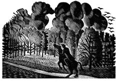 Wood engraving by Eric Ravilious from Gilbert White's 'The Natural History of Selborne' Art And Illustration, Advanced Higher Art, Scratchboard, English Artists, High Art, Wood Engraving, Gilbert White, Gravure, Natural History