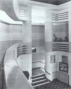 The Odeon cinema, Muswell Hill, London, which operates in Fortis Green Road, is a Grade II Listed Building, largely because of its fine art deco interior. Opened in September 1936, it is considered the finest Odeon designed by the architect George Coles.(Photo by courtesy of David Cook.). @designerwallace