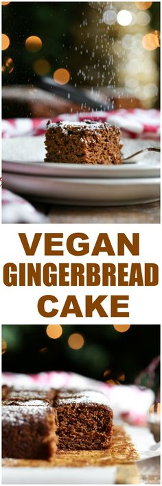 Classic Old-fashioned Gingerbread cake that is vegan, oil-free, whole grain and out of this world delicious, moist and full of amazing flavor from cinnamon, ginger, nutmeg, allspice, cloves and molasses. via @thevegan8