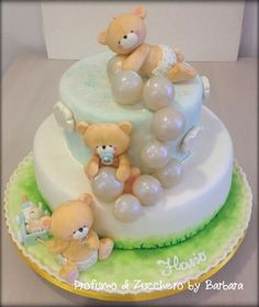 Christening bubbles cake