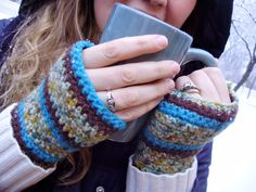 Here's to Handy Andy: Crocheted Hand Warmers