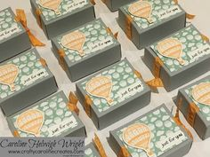 Sweet little gift box using Lift Me Up by Stampin' Up - New product, Video tutorial