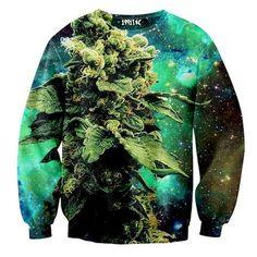 3d Print Animal Sweater Coral Print Weed Galaxy Sweatshirt Hoodies High Street Large