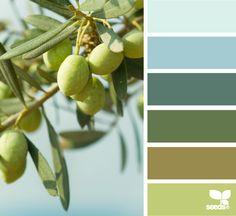 olive hues - reminds me of Portugal    taken from design-seeds.com