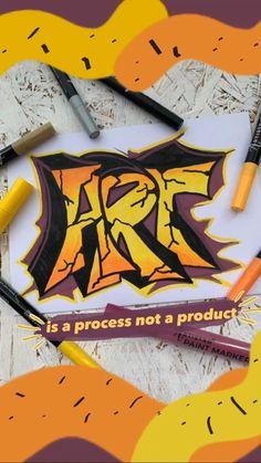Hand Lettering Art, Graffiti Lettering, Acrylic Painting Tips, Diy Painting, Letter Art, Letters, Amazing Drawings, Drawing Challenge, Marker Art