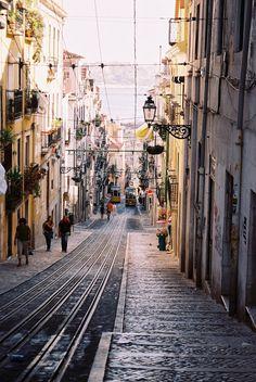 travelingcolors:  Elevador da Bica, Lisbon   Portugal (by julencin2000)