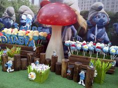 Smurf Party by Q Favors, via Flickr