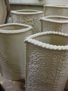 Gary Jackson-textured slab vases 2