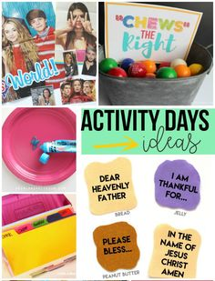 Activity days ideas!