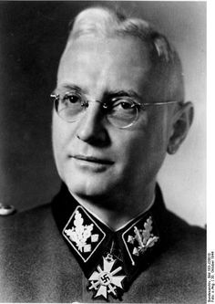 Hans Jüttner was head of the SS Main Leadership Office and also an SS-Obergruppenführer. Archetypal example of colorless administrator in death head's uniform.