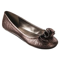 Mossimo Supply Co. 'Odell' ruffle flat in pewter