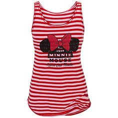 Striped Minnie Mouse Tank for Women...must get for Disney World!