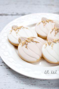 Gilded Pumpkin Cookies