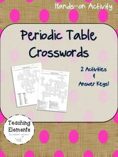 Periodic table activities periodic table chemistry and atomic number periodic table activities crosswords urtaz Choice Image